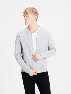 QUILTED BASEBALL ZIPPED SWEAT