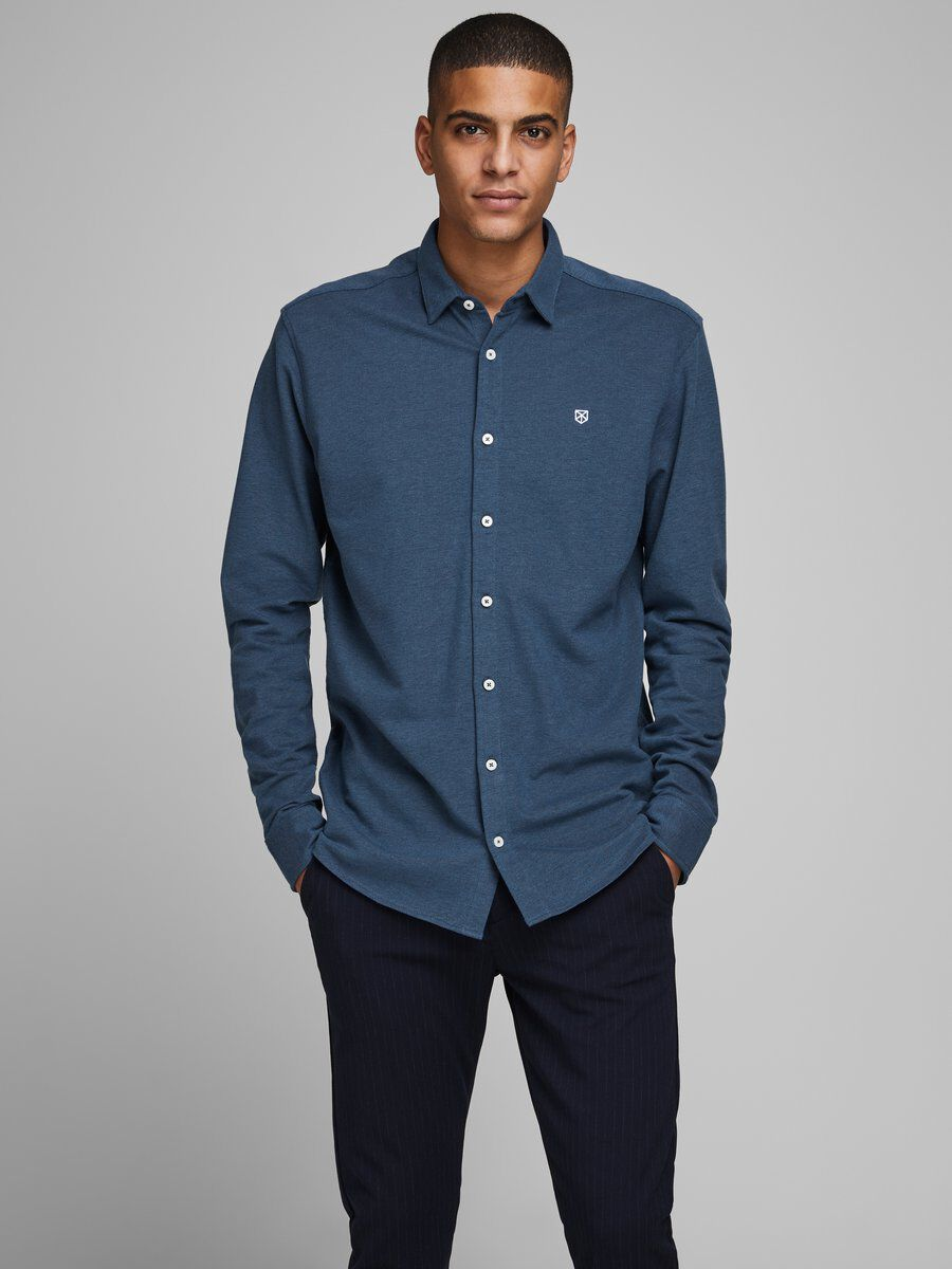 JACK JONES Derek Band Shirt L//S One Pocket