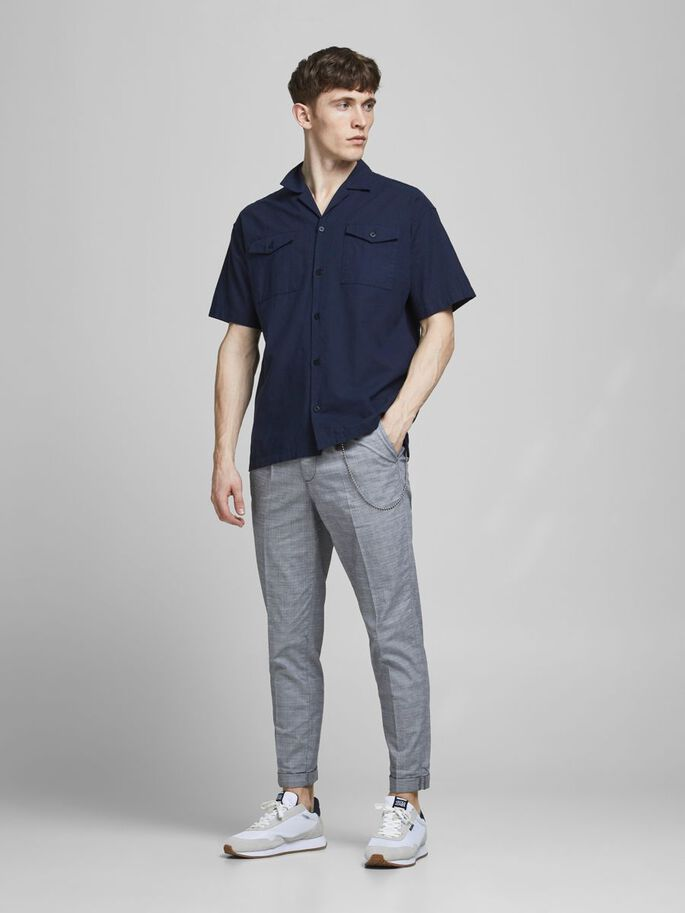 ACE MILTON AKM CHECK CHINOS, Blue Heaven, large