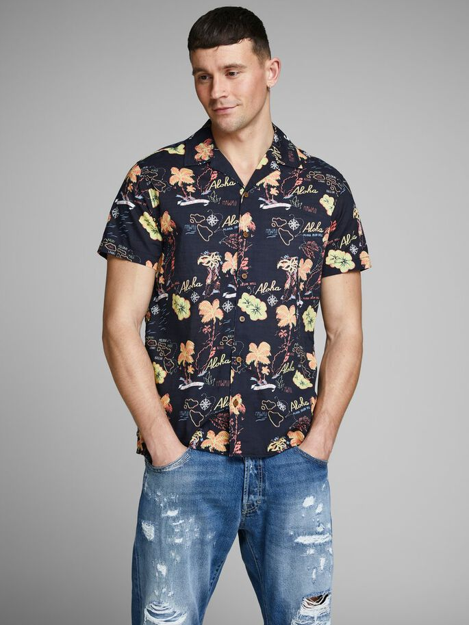 819dad0e Hawaii print short sleeved shirt | JACK & JONES