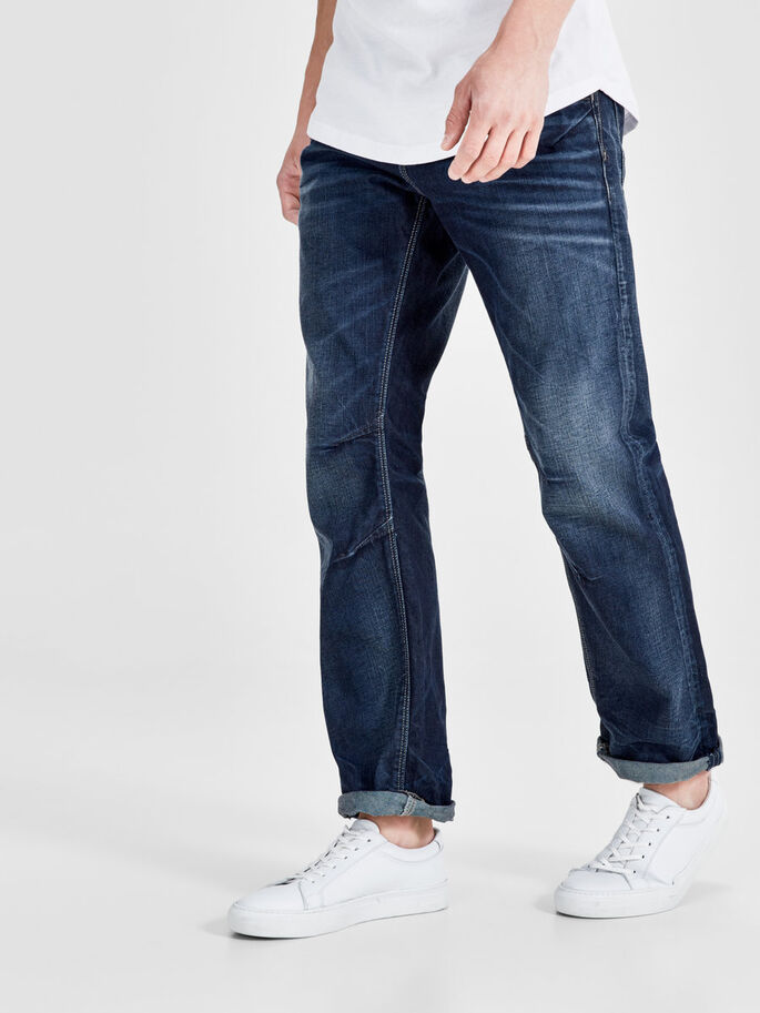 BOXY LEED 979 JEANS LOOSE FIT, Blue Denim, large
