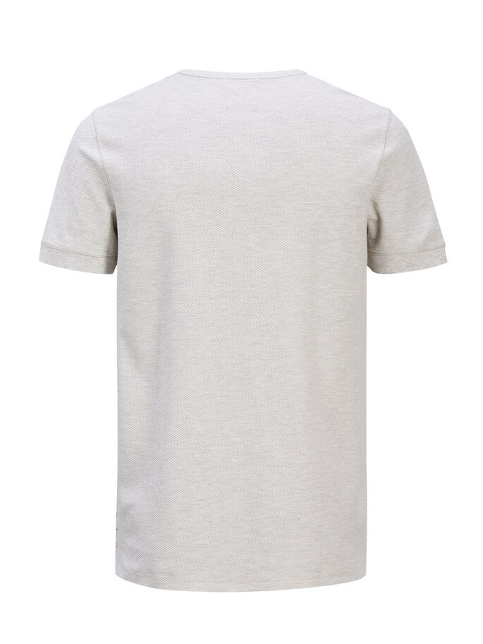 STRUCTURED T-SHIRT, White Melange, large