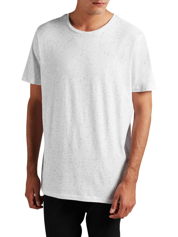 REGULAR FIT T-SHIRT, White, large