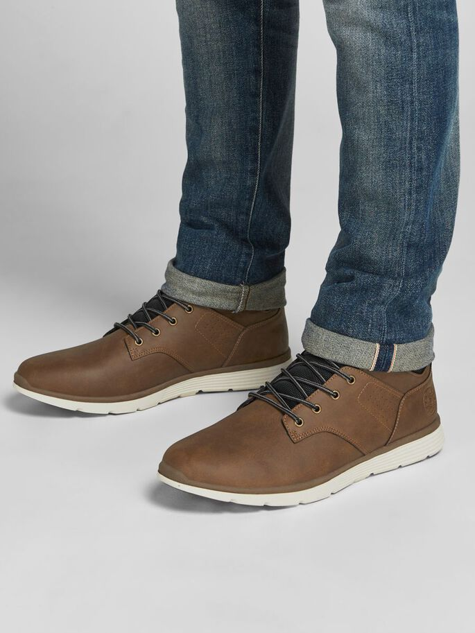 SNEAKER INSPIRED BOOTS, Tobacco Brown, large