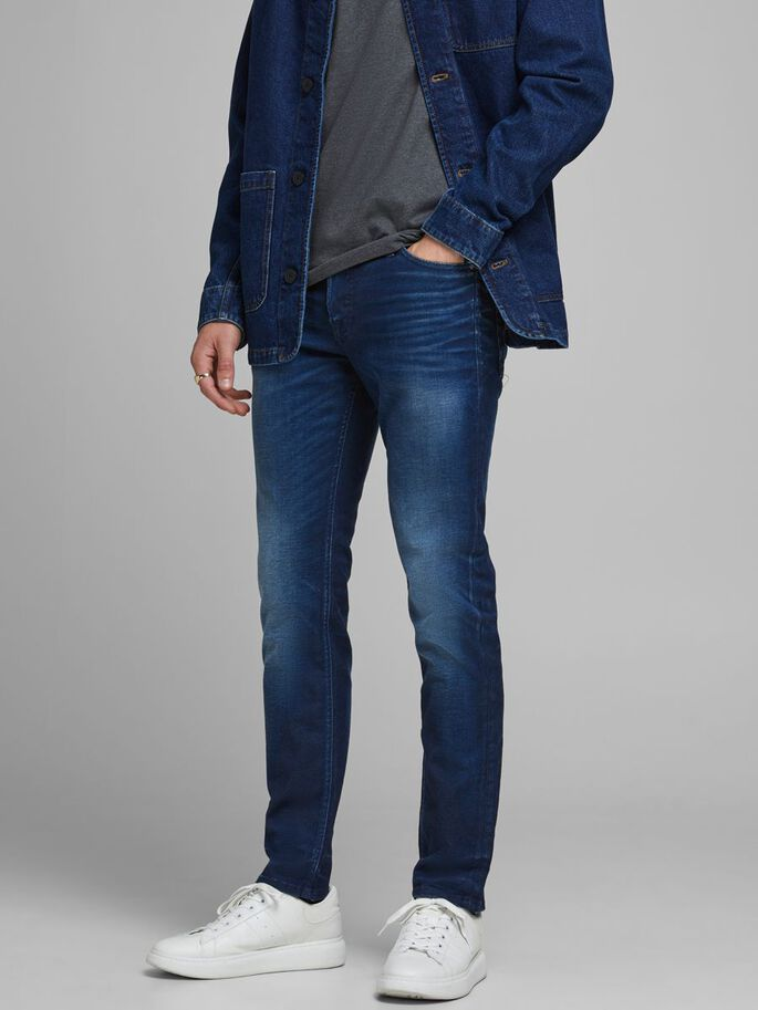 TIM ORIGINAL JJ 267 SLIM/STRAIGHT FIT JEANS, Blue Denim, large