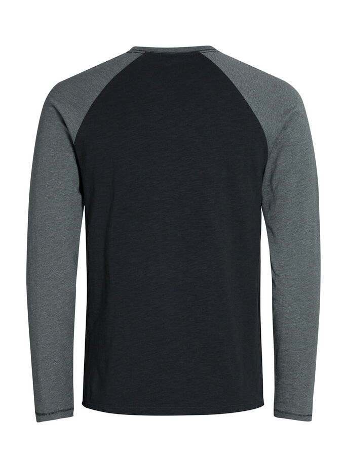 RAGLAN T-SHIRT À MANCHES LONGUES, Dark Grey Melange, large