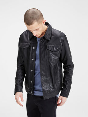 TRUCKER LEATHER JACKET