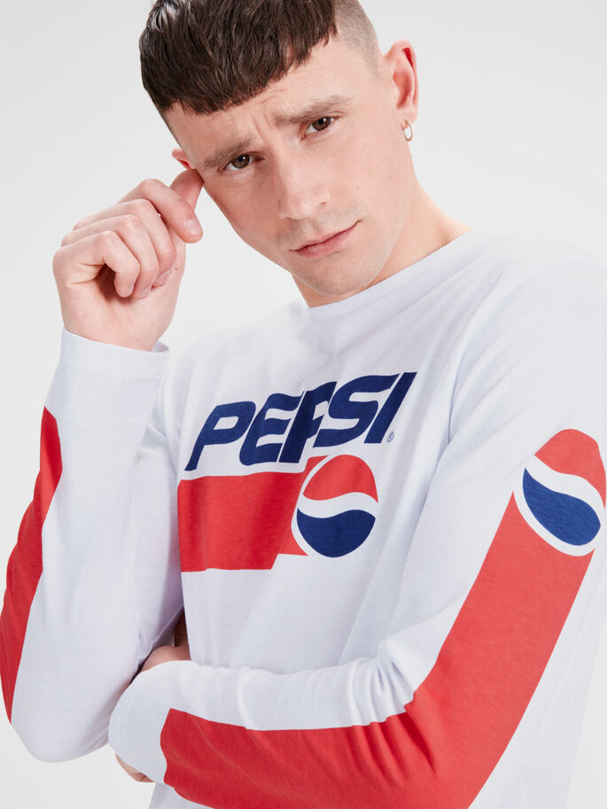 PEPSI LONG-SLEEVED T-SHIRT, White, large