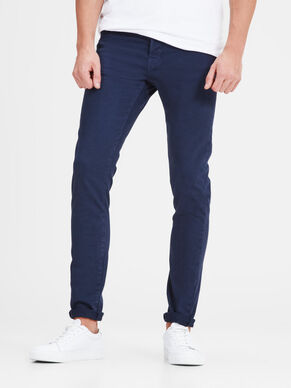 GLENN FOX INDIGO KNIT AKM 353 NAVY TROUSERS
