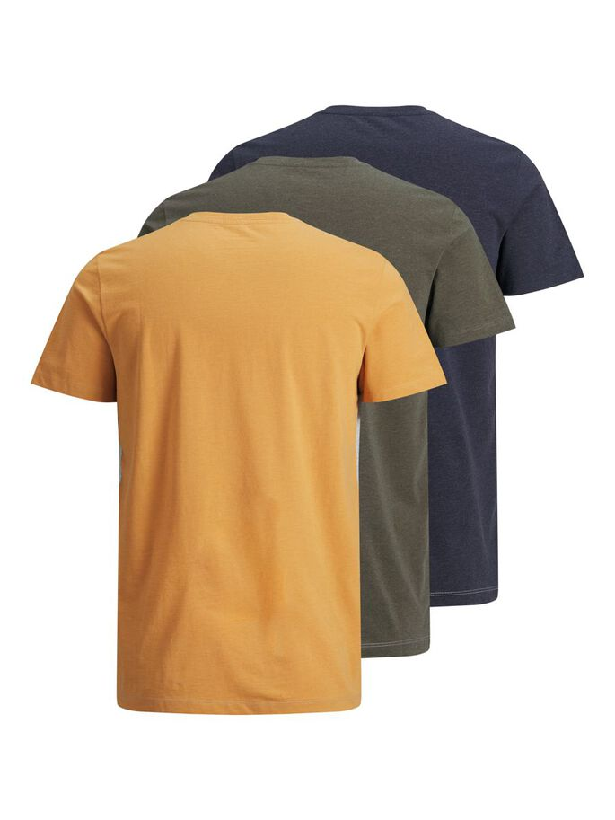 3-PACK LOGO PRINT T-SHIRT, Navy Blazer, large