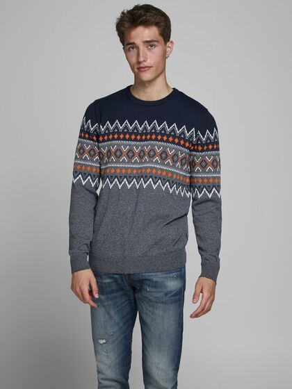 JACQUARD KNITTED PULLOVER