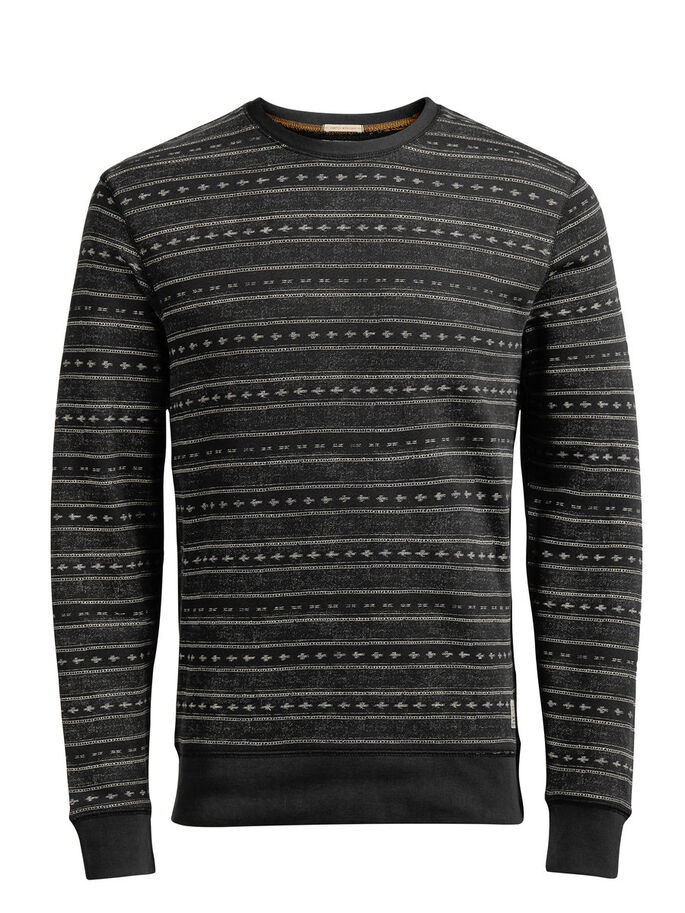 GEDESSINEERD SWEATSHIRT, Caviar, large