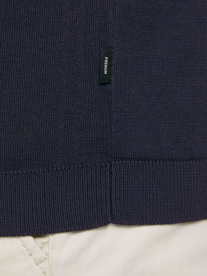 CARDIGAN ZIPPÉ POLO, New Navy, large