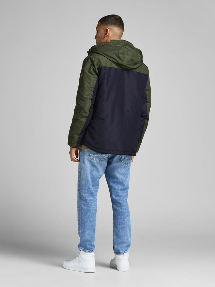 FUNCTIONAL HOODED JACKET, Forest Night, large