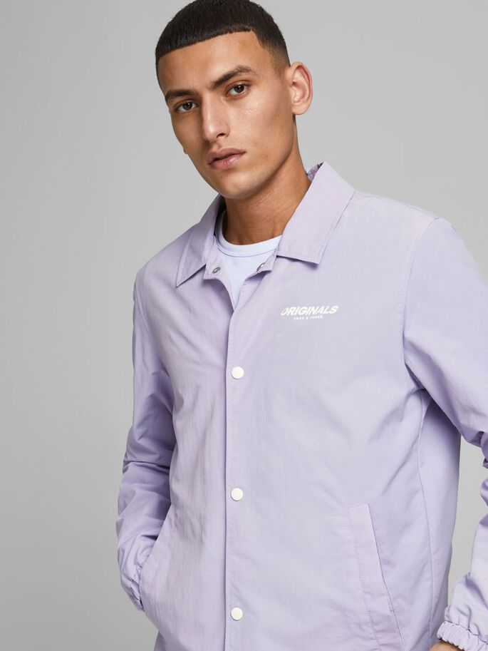 SPORTSWEAR-INSPIRED LIGHTWEIGHT JACKET, Lavender, large