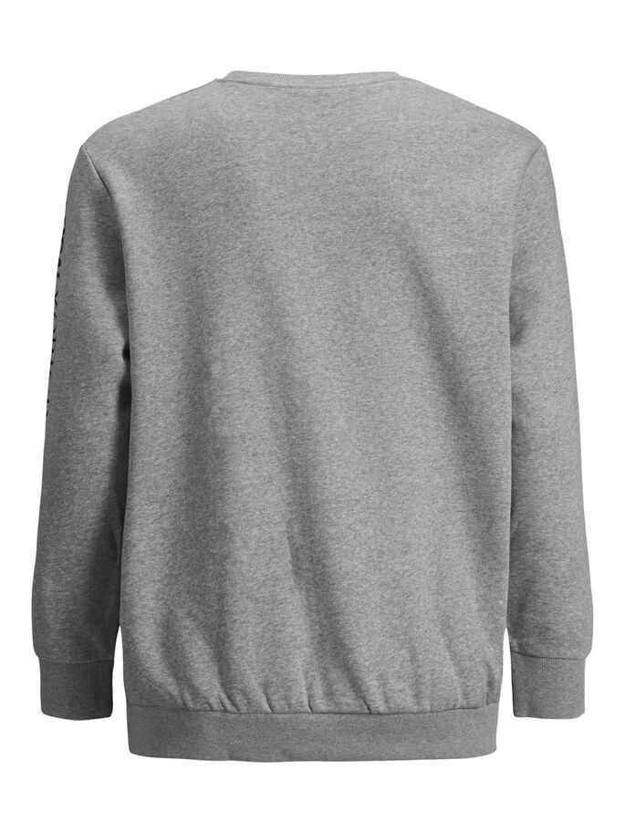 MULTIPLE LOGO PLUS SIZE SWEATSHIRT, Light Grey Melange, large