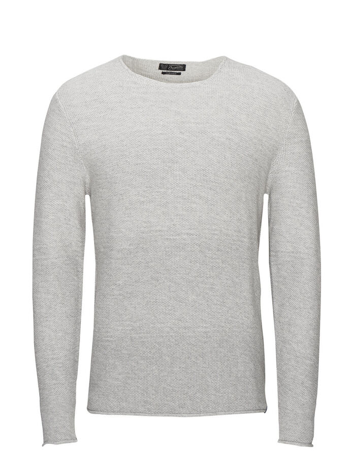 VIELSEITIGER STRICK PULLOVER, Treated White, large