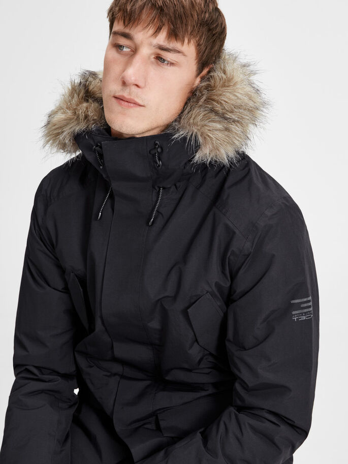 WASSERDICHTER PARKA, Black, large