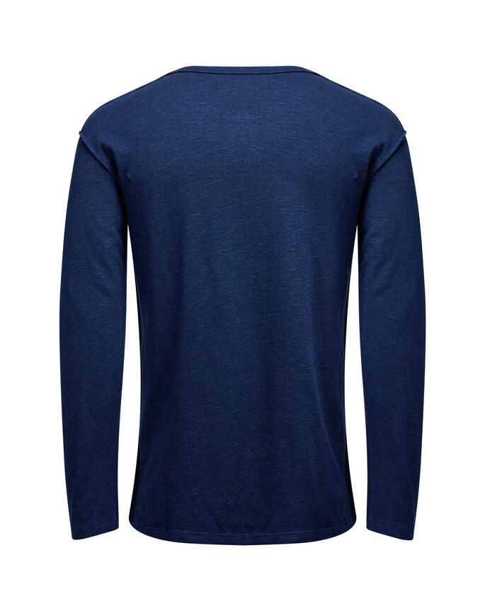 LET LANGÆRMET T-SHIRT, Navy Blazer, large