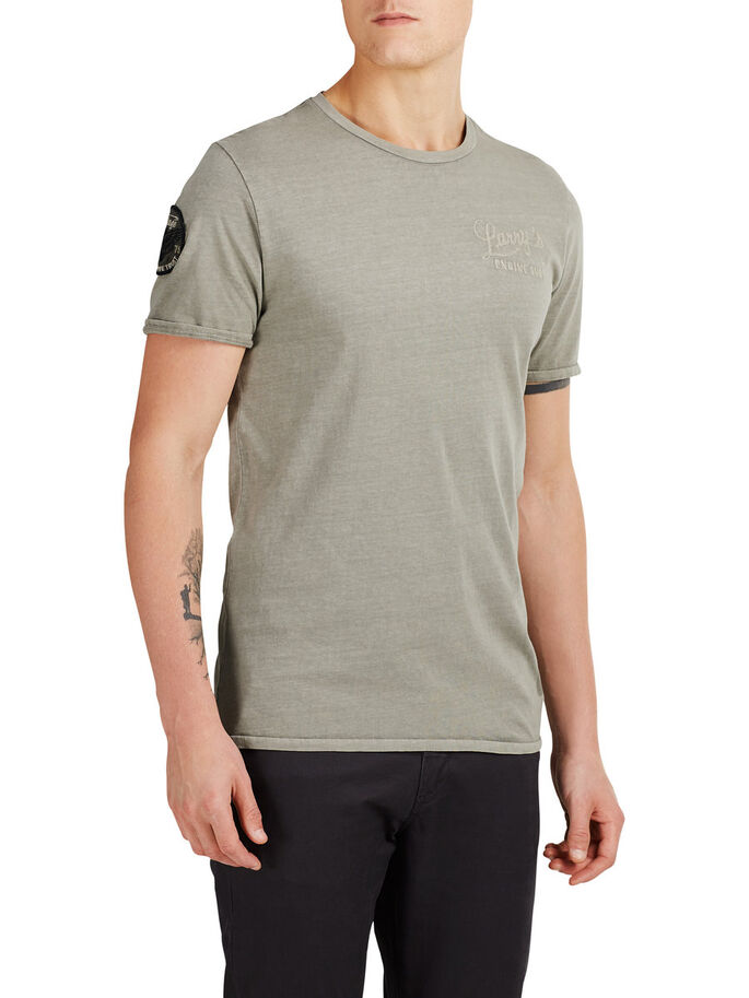 LÄSSIGES T-SHIRT, Laurel Oak, large