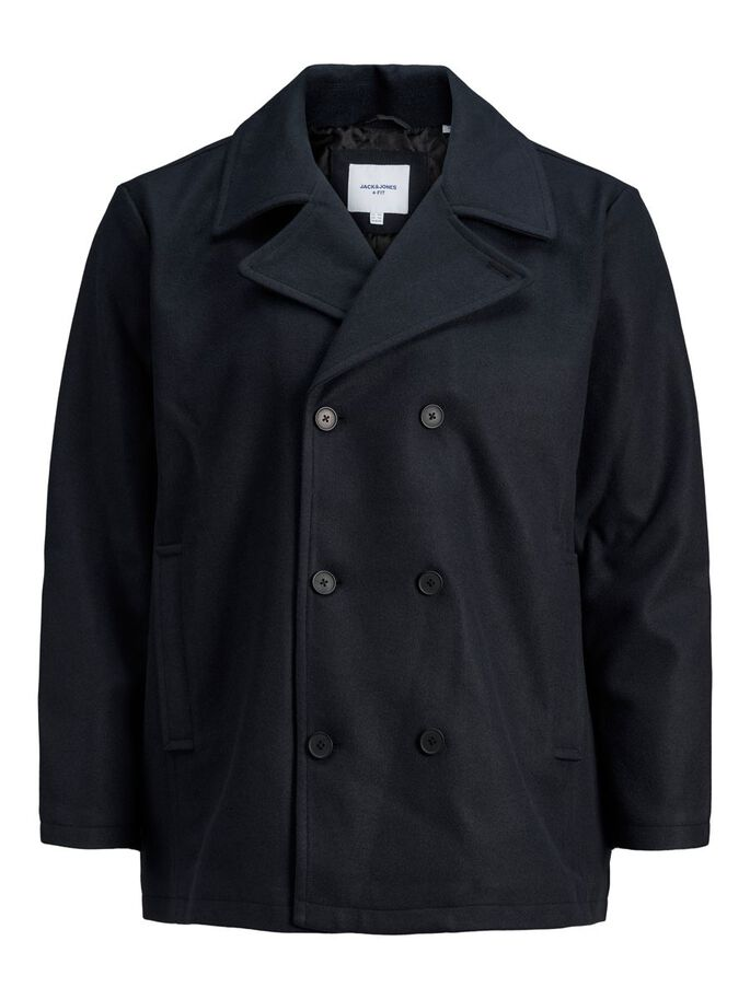 PEACOAT PLUS SIZE JAKKE, Navy Blazer, large