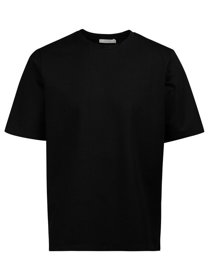 SHORT-SLEEVED T-SHIRT, Black, large