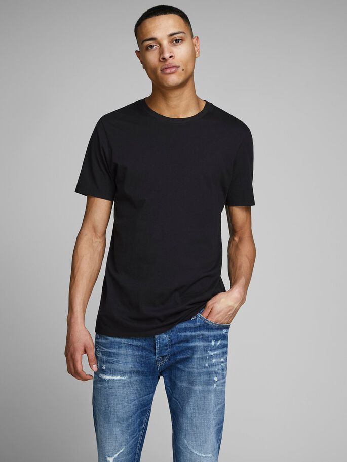 BASIC- T-SHIRT, Black, large