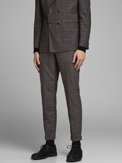 LUCAS CHECKED SUIT TROUSERS