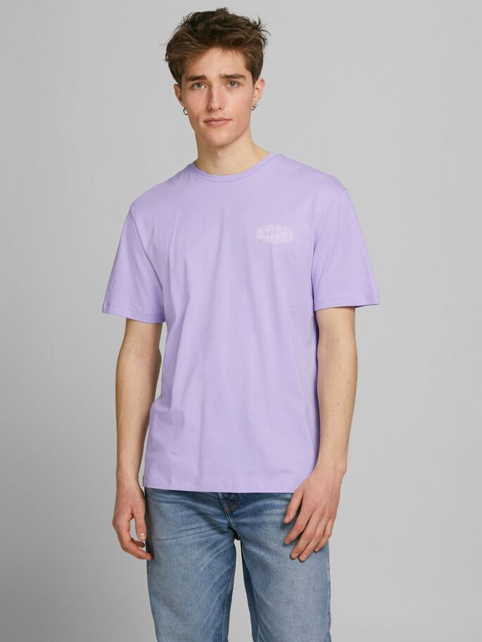 RELAXED FIT T-SHIRT, Lavender, large