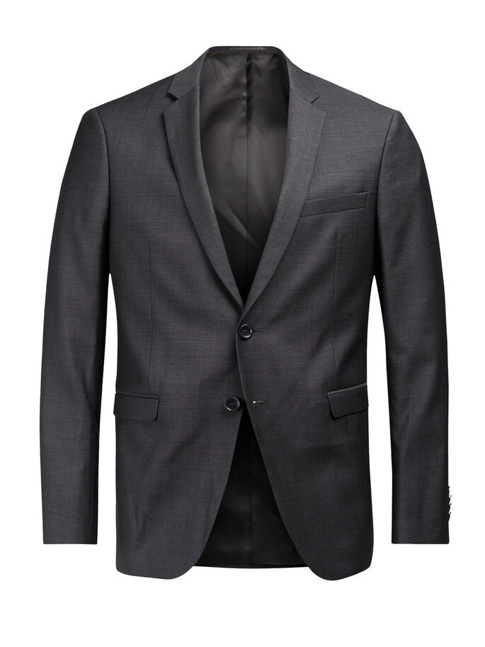 SUPER 110S ULL BLAZER, Dark Grey, large