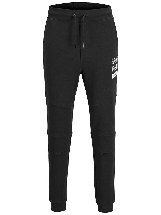 LAKKO JOGGING EN MOLLETON, Black, large