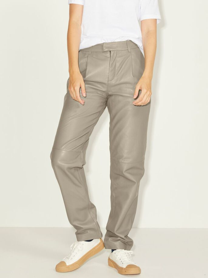 JXADDIE LAMB LEATHER TROUSERS, Brindle, large
