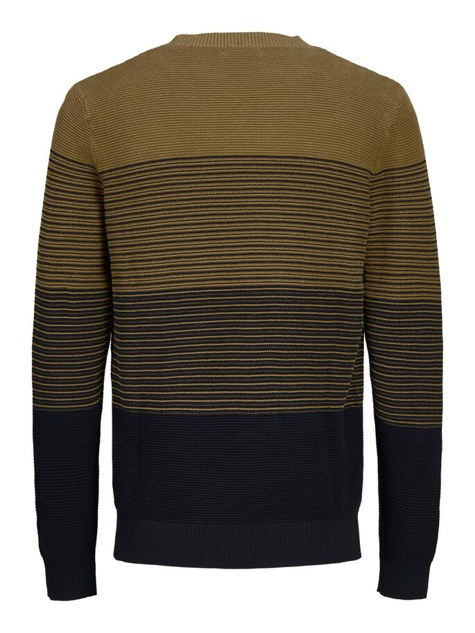 STRIPED KNITTED PULLOVER, Kangaroo, large