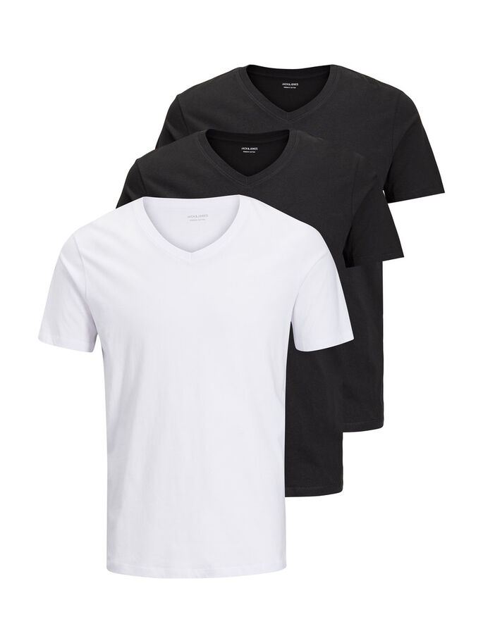 3 PACK ORGANIC BASIC T-SHIRT, White, large