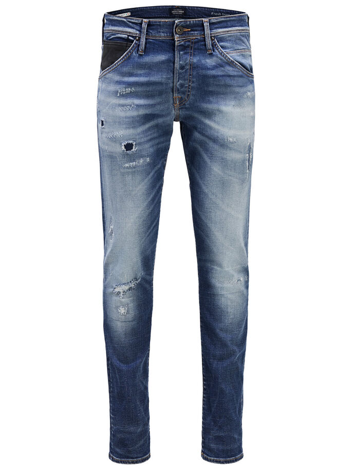 GLENN FOX BL 804 SLIM FIT JEANS, Blue Denim, large