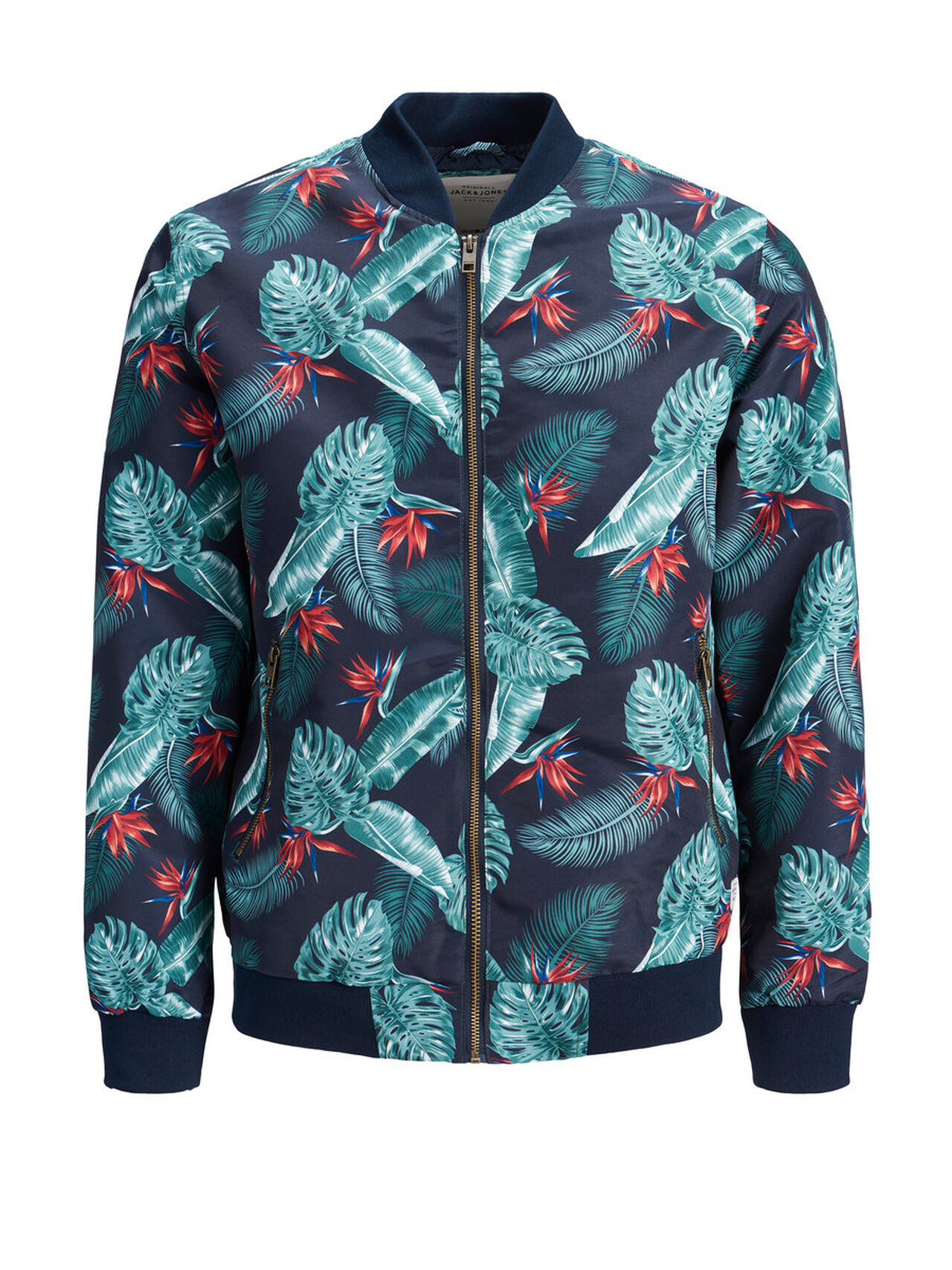 Ideal: Jack Jones Print Jacke Herren Grün Aktion