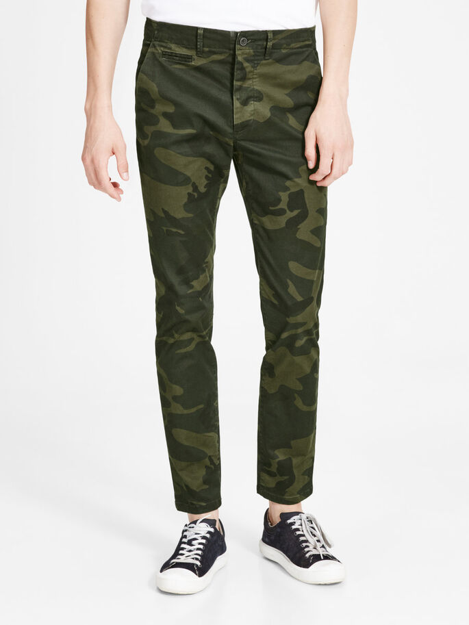 MARCO ENZO WW 420 CHINOS, Forest Night, large