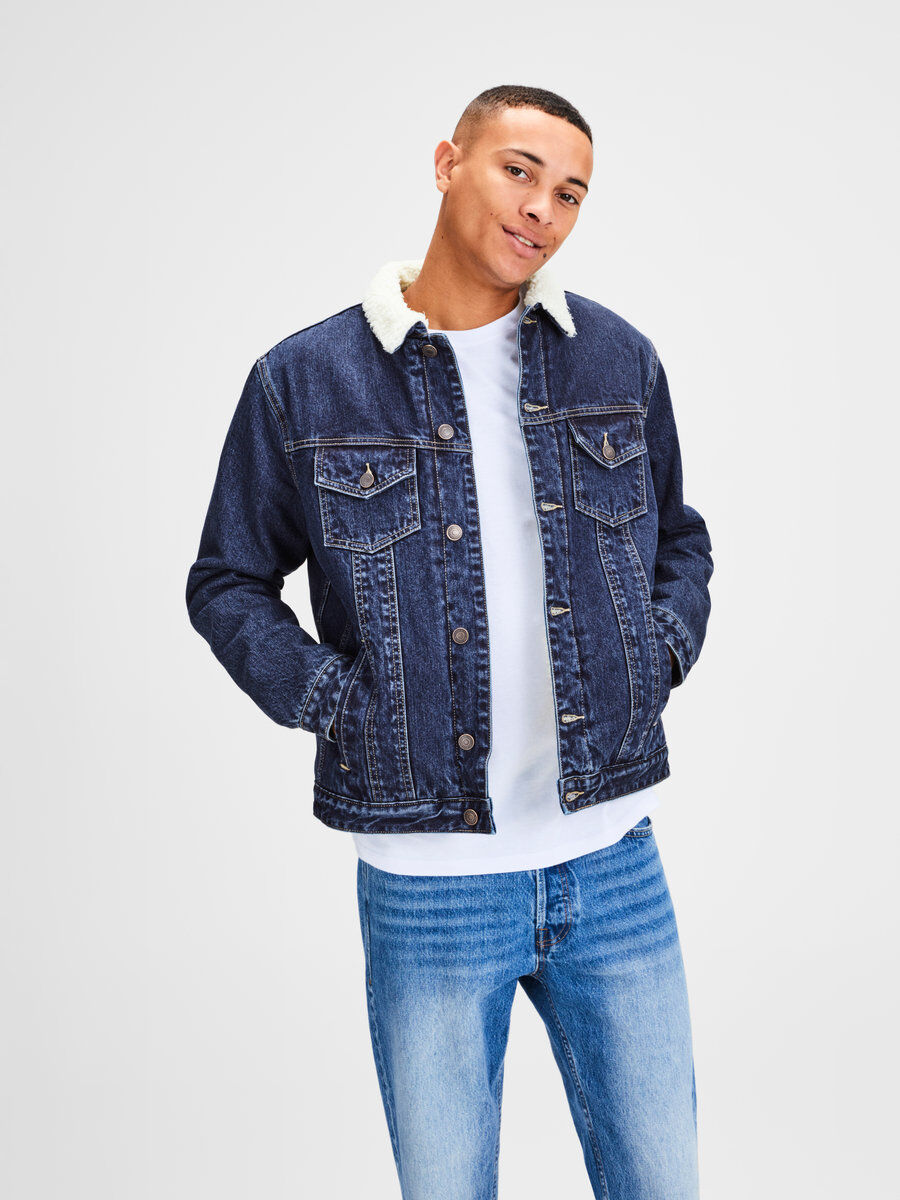 JACK for Denim amp; JONES Blue Black Jackets Men White fvqqSH1w