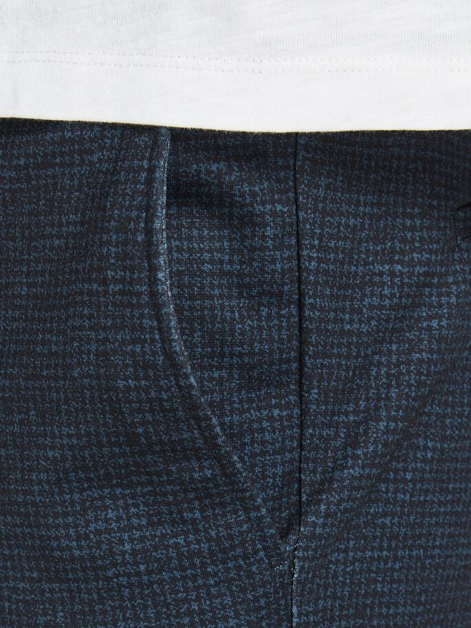 WILL PHIL HOUNDSTOOTH TROUSERS, Navy Blazer, large