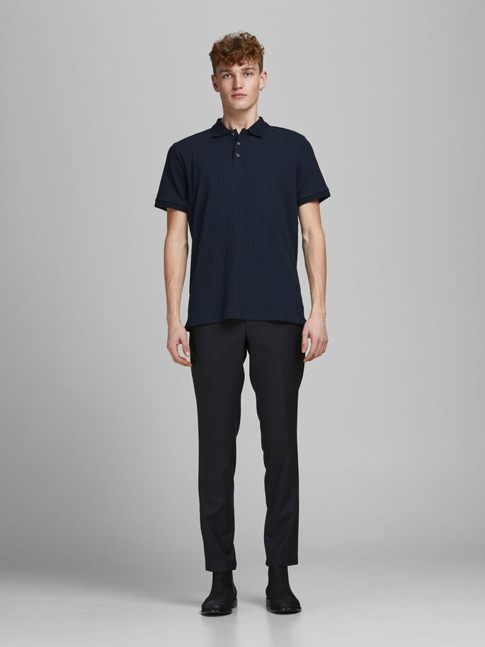 AJUSTE REGULAR ACANALADO POLO, New Navy, large