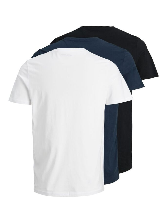 3-PACK CREW NECK T-SHIRT, Navy Blazer, large