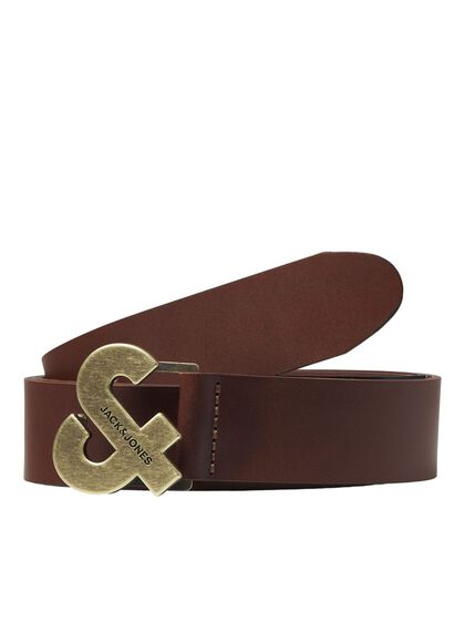 LOGO COW LEATHER BELT