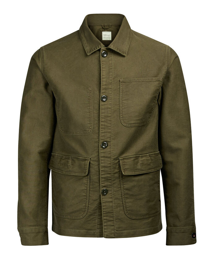 WORKER VESTE, Olive Night, large