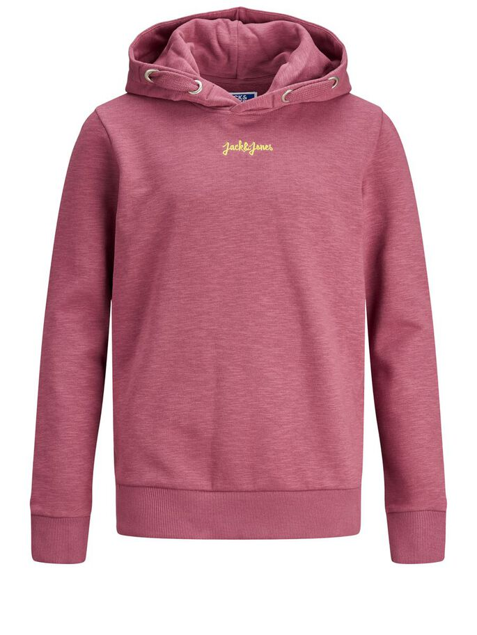 BOYS EMBROIDERY LOGO HOODIE, Hawthorn Rose, large