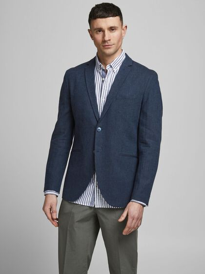 SUPER SLIM FIT LINNEN BLAZER