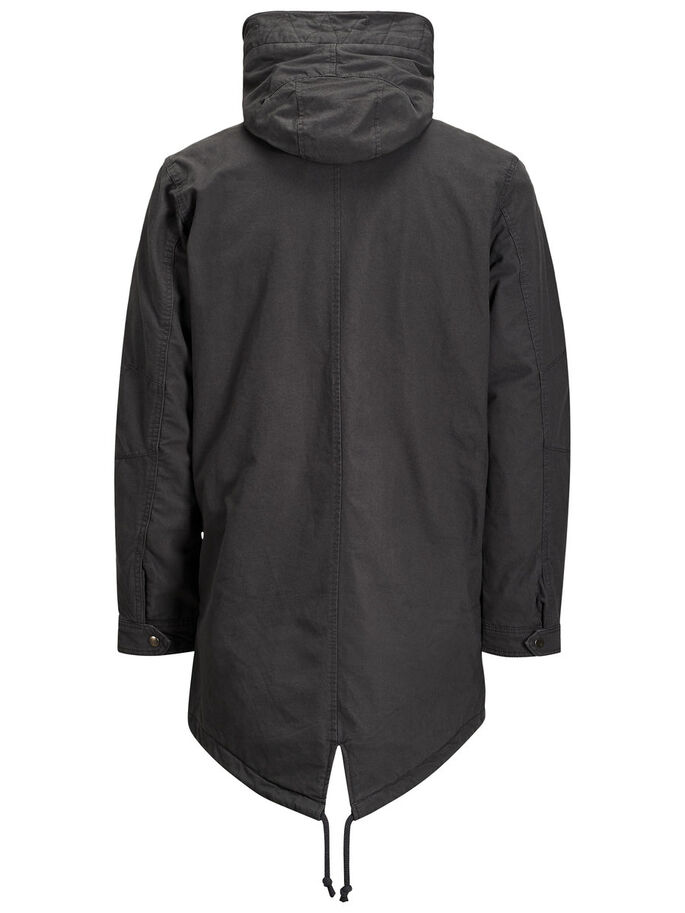 WARM PARKA COAT, Asphalt, large