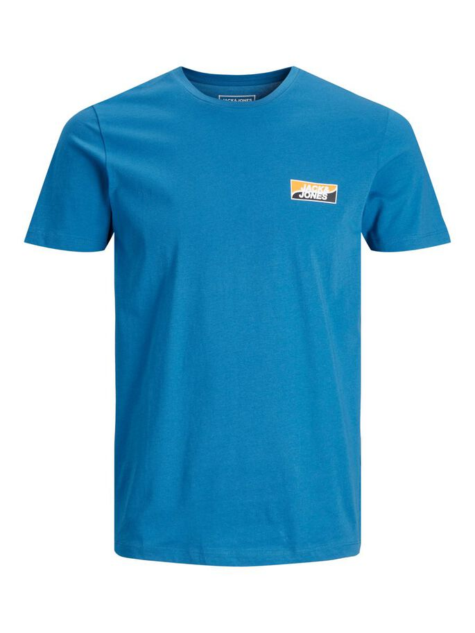 SLIM FIT SMALL LOGO T-SHIRT, Deep Water, large