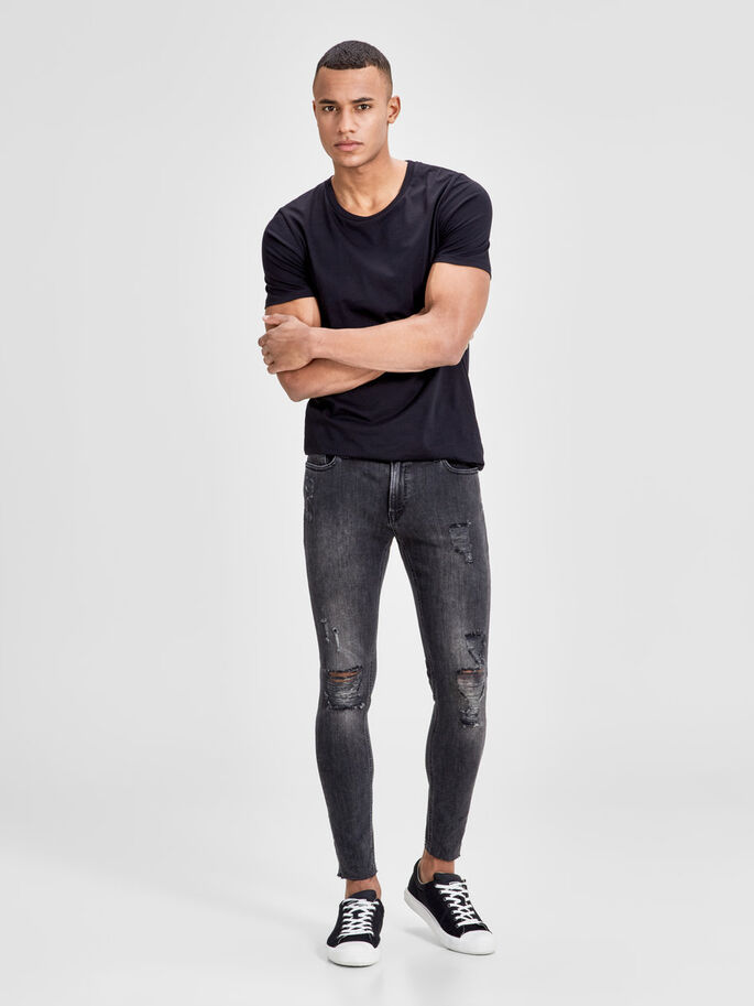 LIAM ORIGINAL AM 660 SKINNY FIT JEANS, Black Denim, large
