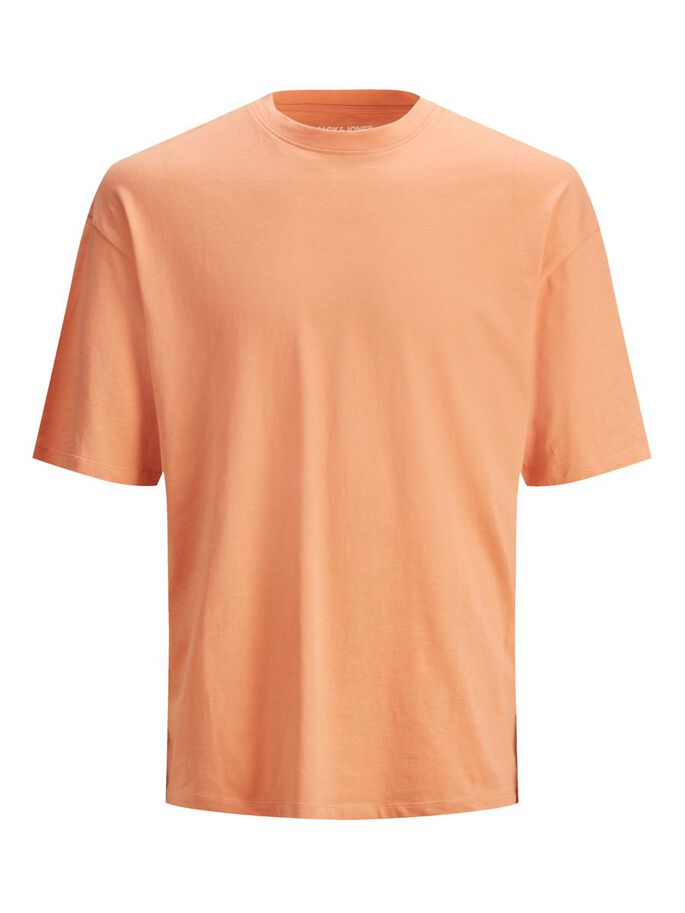 BOXY FIT COTTON T-SHIRT, Shell Coral, large