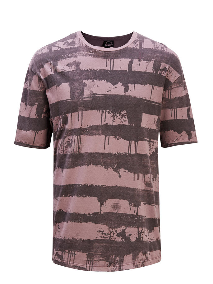 PRINT- T-SHIRT, Rose Taupe, large